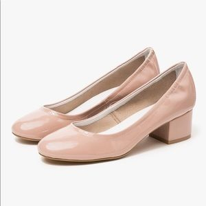 Jeffrey Campbell Taupe Patent Leather Heel